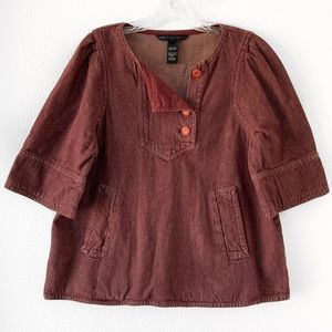 Marc By Marc Jacobs Tops - MARC BY MARC JACOBS BURGUNDY TOP SZ L